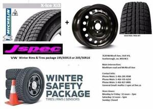 Volkswagen Winter Tires & wheel Package 15 or 16 inch