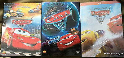 Cars 1-3 Trilogy Disney  Pixar Movie Bundle DVD New & Sealed Us Seller Free