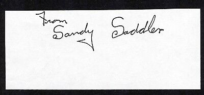 SANDY SADDLER Signed Cut Signature Two-Time Featherweight World Champion Boxer