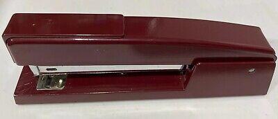 Vintage Swingline 747 Desk Top Stapler Red Wine Or Burgundy Color