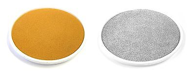 1 GOLD & 1 SILVER CHRISTMAS METALLIC LARGE INK RUBBER STAMP FINGER PAINT PADS mb (Large Stamp Pads)
