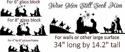 Nativity Scene vinyl for walls or DIY Glass silhouettes art decal Christmas  - Christmas Wall Scenes