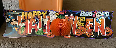 Disney Mickey Mouse Sorcerer Happy Halloween 44 Inch Banner Vintage