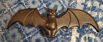 "VTG 22"" Union Don Featherstone Halloween Dracula Vampire Black Bat Blow Mold"