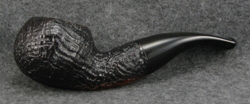 GORGEOUS BREBBIA CELLINI SANDBLASTED 602 AUTHOR BRIAR PIPE MADE IN ITALY