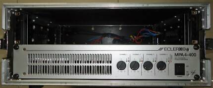 Power Amplifier 4 channel Ecler MPA4400 in roadcase