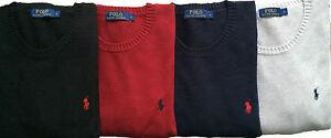 Ralph-Lauren-Men-039-s-Crew-Neck-Jumpers-Cardigan-Pullover-Cotton-S-M-L-XL-XXL