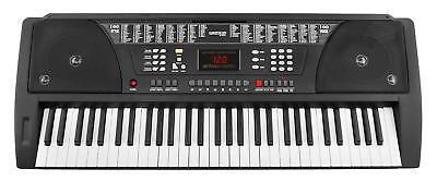 Teclado Electrico 61 Teclas Piano Digitale 100 Sonidos y Ritmos Sintetizador LCD