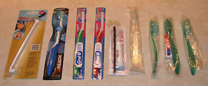 9 NEW Toothbrushes All In Original Packaging