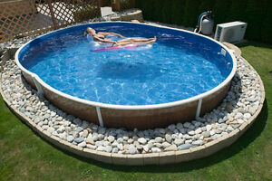 Ovalbecken swimmingpool 5 50 x 3 70 x 1 20m schwimmbad - Piscina seminterrata prezzi ...