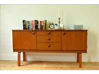 vintage sideboard tv stand teak mid century danish by Schreiber