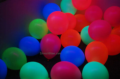 DirectGlow 11 inch Assorted Blacklight Reactive Latex Balloons