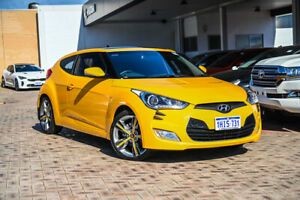 2012 Hyundai Veloster FS2 + Coupe D-CT Yellow 6 Speed Sports Automatic Dual Clutch Hatchback