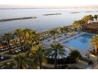 1 week trip to Palm Beach Hotel, Larnaca, Cyprus