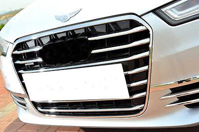 Accesorio para Audi A6 C7 2011-2015 Cromo Tuning Parrilla Listones 11 Piezas