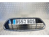 Trade Vehicle Parts FD1236 Front Bumper Centre Grille With Chrome Frame/ Compatible With Focus 2008-2011