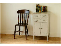cupboard painted distressed storage unit retro sideboard solid wood shabby chic