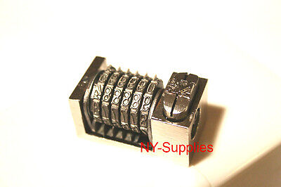 Letterpress Numbering Machine 6 Digits Precision Backwards 3 Drop Zero Steel