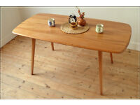 vintage genuine Ercol dining table kitchen table plank elm blonde very good condition