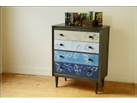 vintage chest of drawers teak Lebus painted danish design child mid century