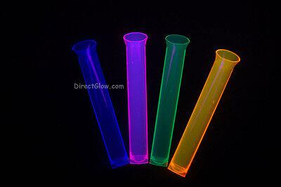 Neon Blacklight Reactive 1 5Oz Tube Shot Glasses 15Ct