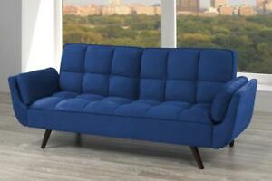 Royal Blue Velvet Futon (TI5)