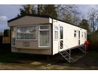 Haggerston Castle Luxury caravan for hire. GCH Geat location. Has bath!