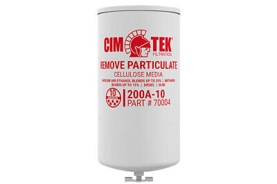 Cim-tek 70004 200ae-10 10 Micron Transfer Pump Filter With Manual Drain