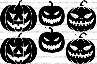 Halloween Pumpkin 6pc Set Stickers Window Wall Decals Home Decorations Vinyl (Home Decorations Halloween)