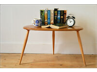 vintage ercol blonde peeble coffee table very good condition side table