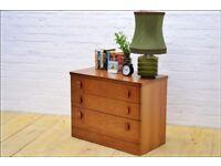 chest of drawers teak danish mid century vintage Stag