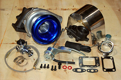 (Internal Turbo Charger Stage 2 Kit Hybrid Blow Off Stainless -3an ss Heatshield)