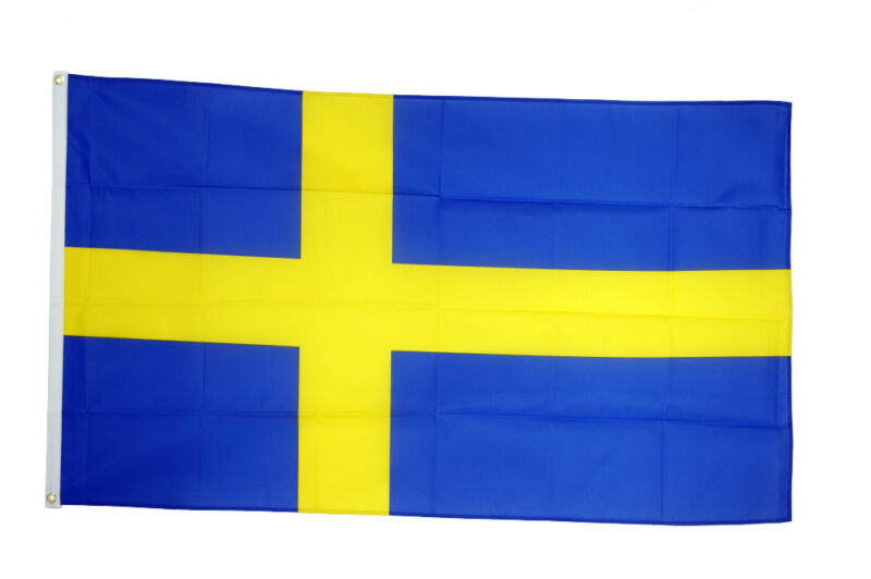 Sweden Large Flag 5 x 3 FT - 100% Polyester National Country Swedish
