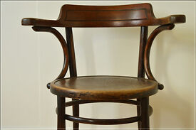 vintage bentwood armchair chair Thonet style captain industrial retro