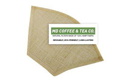 Hemp Coffee Filter 4, Reusable Coffee Filter, Saves Money, Taste Better