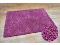 Purple Shaggy Rugs Clearance 3 Large Sizes Thick Brand New