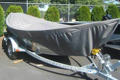"8oz SPECIALTY BOAT COVER FOR DRIFT BOAT WITH BRA 16'-17' 84"" BEAM TRAILERABLE"
