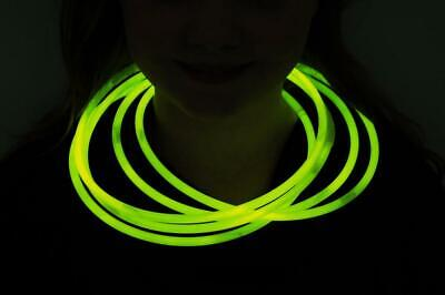 DirectGlow 150ct Yellow 22 inch Glow Necklaces with Preattached Connectors