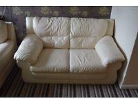 2-seater cream sofa for sale
