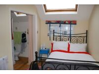 Double, furnished, en-suite room available from July 1, £560 pcm all bills inc., great location.