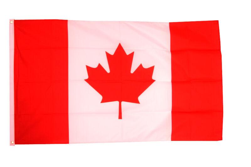 Canada Flag Giant 8 x 5 FT -  Massive Huge Canadian Maple Leaf 100% Polyester