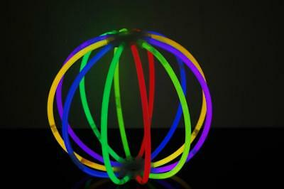 Set of 6 Assorted Glow Stick Balls - 72 glow sticks + 12 ball connectors