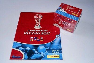 PANINI Confederations Cup 2017 Russia - empty album + box 50 packets new