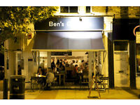 Chef de Partie required for busy brunch led restaurant Ben's Canteen £22,000 + Service Charge