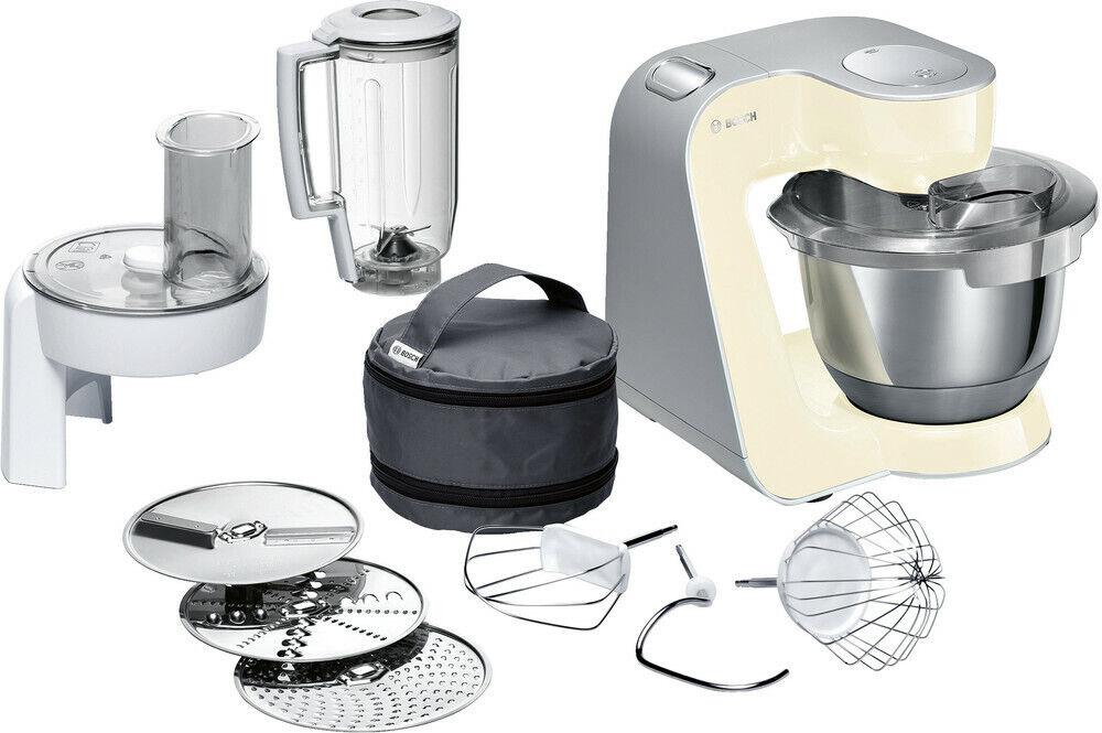 BOSCH MUM5 smooth vanilla/silber MUM58920 Küchenmaschine (1000 Watt,3,9 l)