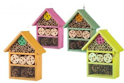 Wooden Wood Bee Insect Bug Nesting Hotel House Box Nest