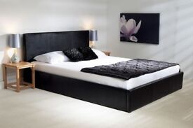 *COME AND VIEW IT ,TRY IT THEN BUY IT* BRAND NEW LEATHER BEDFRAME BLACK **FREE DELIVERY**