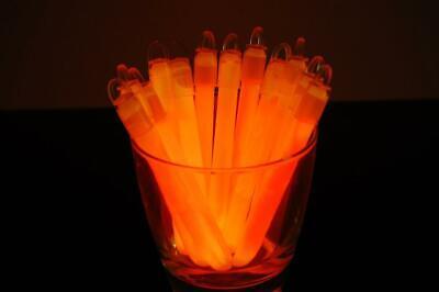 50ct DirectGlow 4 inch Orange Glow Sticks with Lanyards 10-12+ Hour Glow (Orange Glow Sticks)