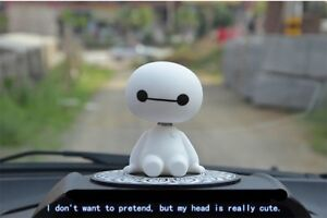 Baymax Robot Shaking Head Figure Car Ornaments