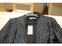 Women's Black Sequin Jacket. New With Tags